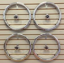 CHEVY CHEVELLE CAMARO Z28 5-Spoke Wheel Chrome TRIM RINGS & CENTER CAPS SET