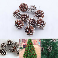 Wood 9 Pic Christmas Small Cones Baubles Xmas Tree Hanging Decorations ornament