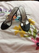Women's Size 7 Shoes - Black and silver - Worn Once