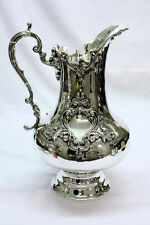 Large English Silver Plated and Embossed Jug