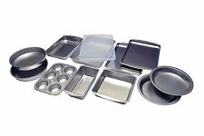 Bakeware Set Stainless Steel Non-Stick Pizza Pan Sheet Bake Cake 12 Piece
