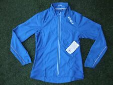 BNWT ~ 2XU BLUE WIRED RUN CYCLE TRIATHLON WIND PROOF WATER RESISTANT JACKET ~ L