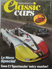Thoroughbred & Classic Cars magazine July 07/1984 featuring Porsche 908, Morgan