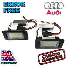 Audi A5 S5 LED License Number Plate Light Error Free Bulb S line black edition