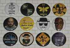 "BREAKING BAD 12 Button Set - 1 "" Inch - Pins Badges Heisenberg Saul Goodman"