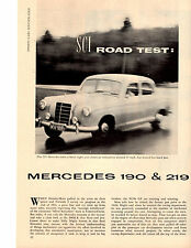 1957 MERCEDES-BENZ 190 & 219  ~  NICE ORIGINAL 4-PAGE ROAD TEST / ARTICLE / AD
