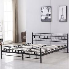 Queen Size Metal Double Platform Bed Frame/Easy Set-up Platform Bed