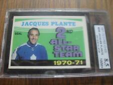 1971-72 O-Pee-Chee OPC Jacques Plante #256 2nd All-Star KSA like PSA 8.5 NMM+