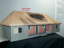 BRITAINS 51029 ZULU WAR RORKES DRIFT HOSPITAL BUILDING WITH BURNED OUT ROOF