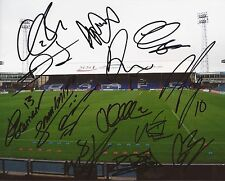 OLDHAM F.C SIGNED 10x8 GROUND PHOTOx14+COA *DIENG, ELOKOBI, KEAN, PHILLISKIRK*