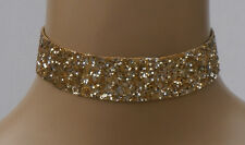 Elegant Glitter Fabric Choker with Ribbon Ties 15 Colours Bridesmaids Costume