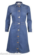 Gestuz Kyra Denim Jean Long Sleeve Button Mini Stretch Shirt Dress 36 UK 8 £139