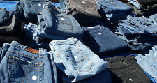 Lot 25 pairs of Blue Ladies Jeans Bulk Sale Many Brands Mixed Sizes (Drycleaned)