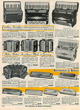 1963 ADVERT Zenith Cut Away Electric Guitar Seville Catalina Grand Accordion