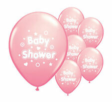 "8 x Baby shower pink 12"" helium or air fill balloons baby girl pink decorations"