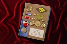 WWII U.S. WOMEN'S ARMY CORPS (WAC) MEDAL & INSIGNIA GROUP - NAMED