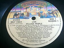 Village People Live And Sleazy 2 LP 1979 Casa Blanca w/Inner Picure Sleeves EX