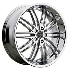 "(4rims) 20"" Staggered Versante Wheels VE231 Chrome Rims"