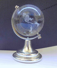 Collectible JOHNNIE WALKER Solid Glass Miniature Globe Paperweight #