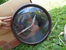 vintage General Electric WALL CLOCK RECORD face bakelite Plastic CASE SCHOOL?