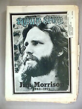 Rolling Stone #88 - August 5, 1971 ~~ death of Jim Morrison
