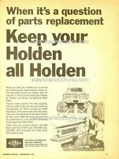 1968 HOLDEN NASCO PARTS EJ EH A3 POSTER AD ADVERT ADVERTISEMENT BROCHURE