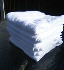 12 Egyptian cotton White Hand towels cheap budget price but good quality 500gms