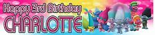 Personalised Trolls Birthday Banners - Buy 2 get 1 Free