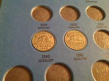 1940 & 1941 Canadian Five Cent, Penny, Canada Nickel