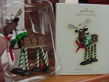 NEW HALLMARK 2007 CHOCOLATE MOOSE Bon Bons Peppermint sticks CHRISTMAS ORNAMENT