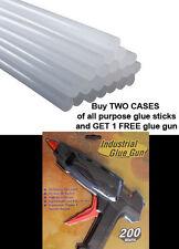 50 lbs Bulk All Purpose Hot Melt Glue Stick 1/2 in x 10 in, PLUS FREE GLUE GUN