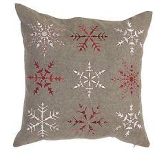 Kissenhülle *Clayre & Eef * Schneeflocken * Weihnacht * Kissen * 50 x 50cm