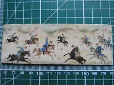 Antique Chinese Oriental Painted Carved Bovine Bone Art Horse Equine Polo Spor