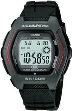 Casio 100 Meter WR 10 Yr Battery Watch, Chronograph, Black Resin, HDD600-1AV