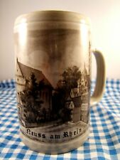 Neuss am Rhein  German Oktoberfest Beer Stein 1/2 L Collectors Item NWOT