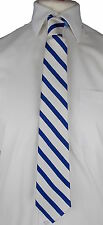 Tommy HILFIGER Tie Silk Designer Mens Striped Blue & White Stripes