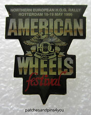 Harley Davidson HOG Northern Europe HOG Rally Rotterdam 1996 Pin. FREE UK P&P!