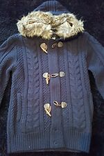 Schott Hooded Jacket With Fur Size M Knit Wear