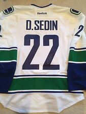 DANIEL SEDIN Signed Vancouver Canucks Game Authentic PRO NEW Hockey Jersey coa