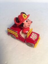 """1980s Vintage Tomy Disney """"MICKEY MOUSE FIRE TRUCK"""" Diecast Vehicle, RARE! D"""
