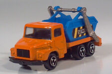 "Majorette 222 Multi Benne Skip Truck 2.75"" 1:100 Scale Model France Dumpster"
