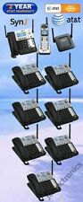 AT&T SynJ® SB67138 DECT 6.0 4-LINE PHONE - 1 CORDLESS + 7 DESKSETS + 1 REPEATER