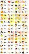 Personalized Waterproof Name label sticker, Tsum Disney Qty64 Party favor Small