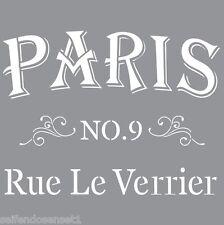 XL Schablone Möbel Wand Americana Ornament Paris Rue Stencil shabby chic DIY 012