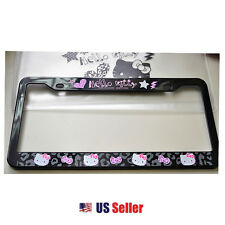 Sanrio Hello Kitty License Plate Frame : Black Hello Kitty