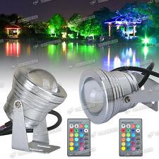 2x10W RGB LED Outdoor Changing Round Flood light 16 Color Garden Lamp Waterproof