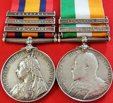 VINTAGE & RARE PRE WW1 BRITISH BOER WAR SERVICE MEDAL GROUP GREEN ROYAL SCOTS