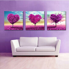 1pc Heart Tree Baum DIY Kreuzstich 5D Cross stich sticken Handarbeit 35*35cm