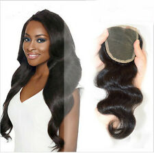 "10"" Body Wave 4x4 Middle Hair Parting Lace  Closure Brazilian Human Hair New"