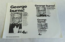 1970 NBC station advertising ~ The Dean Martin Celebrity Roast of GEORGE BURNS